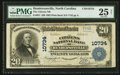 National Bank Notes:North Carolina, Hendersonville, NC - $20 1902 Plain Back Fr. 657 The Citizens NB Ch. # 10734. ...