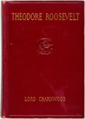 Books:Biography & Memoir, Lord Charnwood. Theodore Roosevelt. Boston: Atlantic Monthly Press, [1923]. Fourth impression. Original cloth bindin...