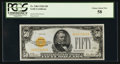 Small Size:Gold Certificates, Fr. 2404 $50 1928 Gold Certificate. PCGS Choice About New 58.. ...