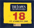 Golf Collectibles:Autographs, 2000 Jack Nicklaus Signed The Open Championship Golf Flag....