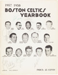 Basketball Collectibles:Programs, 1957-58 Boston Celtics Team Signed Yearbook....