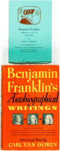 Books:Biography & Memoir, Carl van Doren, editor. Benjamin Franklin's AutobiographicalWritings. New York: Viking Press, 1945. Publisher's clo...(Total: 2 Items)
