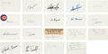 Autographs:Index Cards, 1900's-90's Baseball Stars & Commons Signed Index Cards Lot of465....