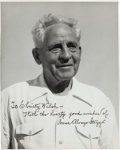 Football Collectibles:Photos, 1940's Amos Alonzo Stagg Signed Photograph - Inscribed To ChristyWalsh....