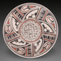American Indian Art:Pottery, A SAN ILDEFONSO POLYCHROME PLATE. Maria Martinez and Popovi Da. c.1966...