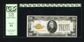 Small Size:Gold Certificates, Fr. 2402 $20 1928 Gold Certificate. Very Fine-Extremely Fine. While at first impression this note screams Gem, upon further...