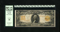 Large Size:Gold Certificates, Fr. 1185 $20 1906 Gold Certificate PCGS Very Fine 20. Bright golden orange color is noted on the back of this popular issue....