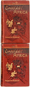 Books:World History, Henry M. Stanley. In Darkest Africa. London: Sampson Low,Marston, Searle and Rivington, 1890. First edition. Two vo...(Total: 2 Items)