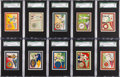 Non-Sport Cards:Sets, 1910 T51 Murad Cigarettes College Series Near Master Set (170/200)....
