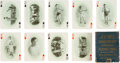 Boxing Cards:General, 1909 James Jeffries' Championship Playing Cards Complete Set (53)Plus Original Box. ...