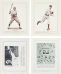 Baseball Cards:Sets, Rare 1933 Blum's Publishing Baseball Near Set (10/16) With Alexander, Grove and Wagner. ...