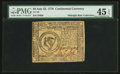 Colonial Notes:Continental Congress Issues, Continental Currency July 22, 1776 $8 PMG Choice Extremely Fine 45EPQ.. ...