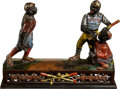 Baseball Collectibles:Others, 1888 Dark Town Battery Cast Iron Mechanical Bank....