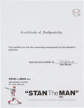 Baseball Collectibles:Others, 2000's Stan Musial Signed Stan the Man Stationery Lot of 209. ...