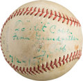 Autographs:Baseballs, 1955 Ty Cobb Single Signed Baseball Inscribed to His Grandson....