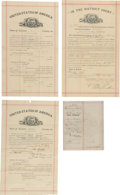 Autographs:Military Figures, Dodge City, Kansas: Four Early Documents, Including Warranty Deed Signed by W. F. Petillon....