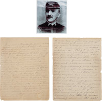 George Armstrong Custer: An Important 63-Page Handwritten Memoir by Charles A. Varnum, 7th Cavalry Officer After 1872 an...