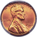 Lincoln Cents, 1960 1C Large Date MS67 Red PCGS....