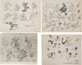 animation art:Model Sheet, Mickey Mouse Early Model Sheet Group (Disney, 1930s).... (Total: 4Items)