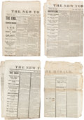 Political:Small Paper (pre-1896), Abraham Lincoln: New York Herald Assassination Issues....