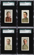 "Baseball Cards:Lots, 1910-11 M116 SGC 92 NM/MT+ 8.5 Quartet (4) - With Three Pop One,Highest Graded"" Status! ..."