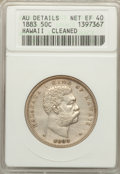 Coins of Hawaii: , 1883 50C Hawaii Half Dollar -- Cleaned -- ANACS. AU Details Net XF40. NGC Census: (45/392). PCGS Population (90/543). Mint...