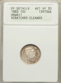 Coins of Hawaii: , 1883 10C Hawaii Ten Cents -- Cleaned, Scratched -- ANACS. XFDetails Net VF 30. NGC Census: (37/367). PCGS Population (55/5...