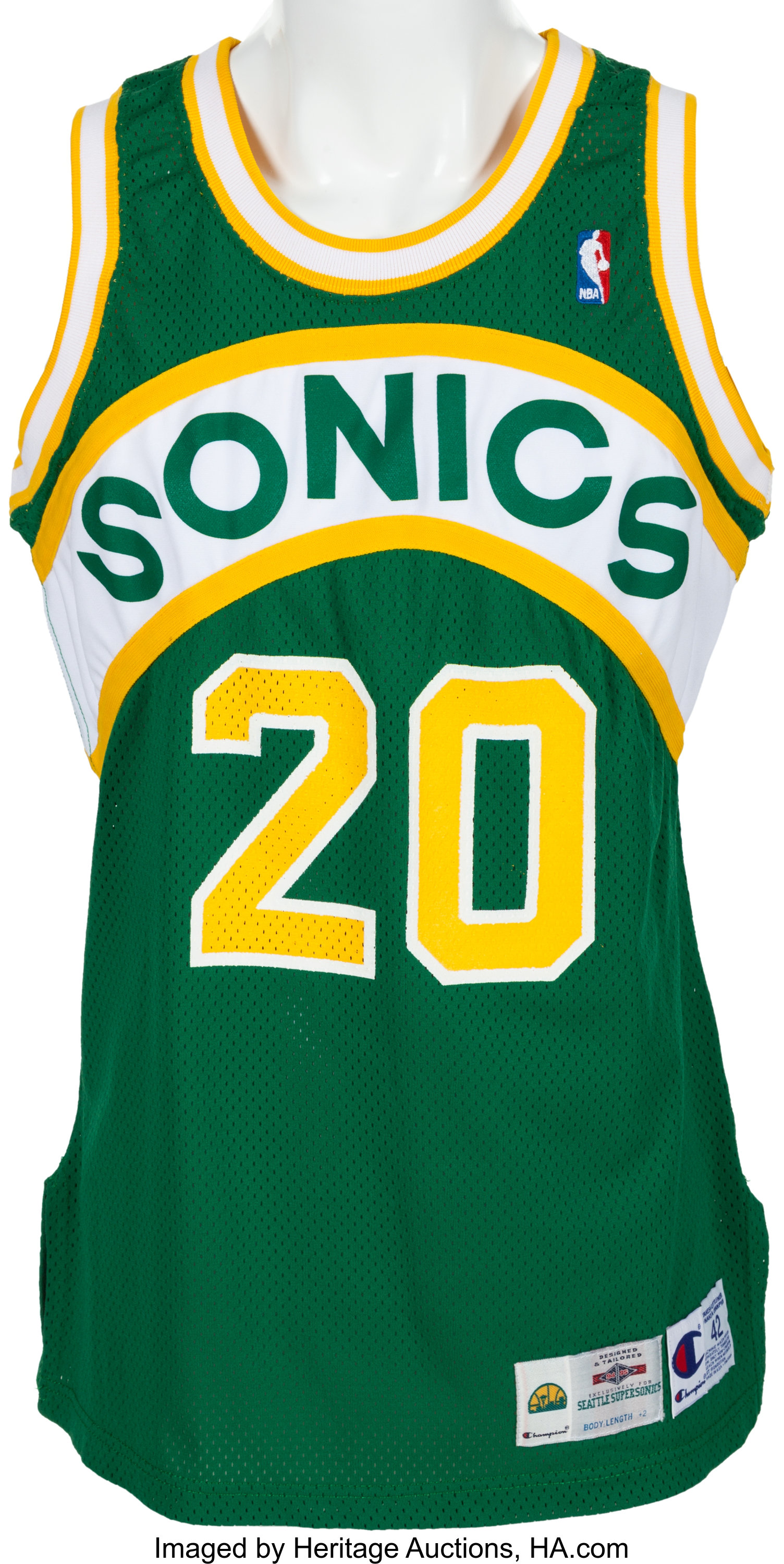 hot sale online 4a645 979ad 1994-95 Gary Payton Game Worn Seattle Supersonics Jersey ...