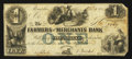Obsoletes By State:Tennessee, Memphis, TN- The Farmers and Merchants Bank $1 Apr. 4, 1854. ...