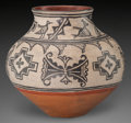 American Indian Art:Pottery, A TESUQUE POLYCHROME JAR. c. 1890. ...