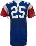 Football Collectibles:Uniforms, 1980 Fred Biletnikoff Game Worn Montreal Alouettes CFL Jersey, MEARS A10....