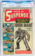 Silver Age (1956-1969):Superhero, Tales of Suspense #39 (Marvel, 1963) CGC VG 4.0 Off-white to whitepages....
