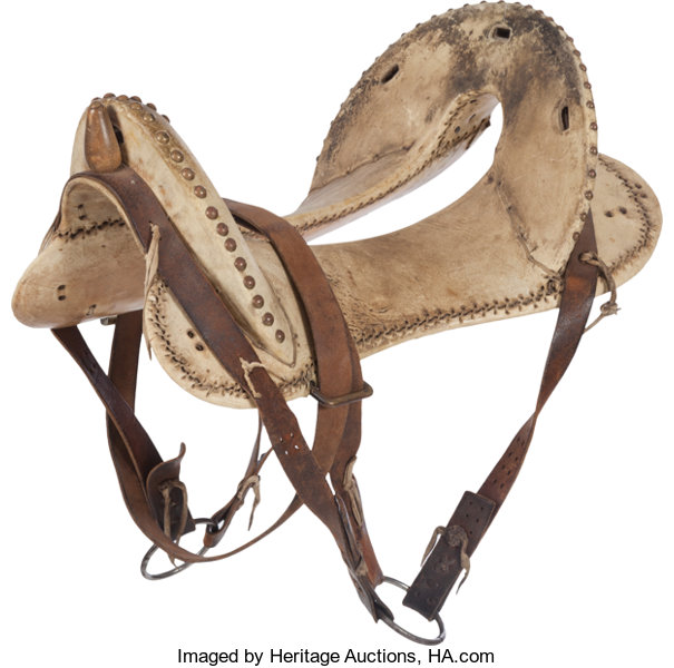 McClellan Style Saddle Tree, covered with hide    Western