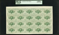 Fractional Currency:First Issue, Fr. 1242 10¢ First Issue Full Sheet of 20 PCGS Gem New 65PPQ.. ...