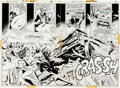 Original Comic Art:Splash Pages, Don Heck and Vince Colletta Wonder Woman #204 Page 2-3Splash and Page 4 Original Art Group (DC, 1973).... (Total: 3Original Art)