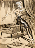 "Original Comic Art:Splash Pages, Bill Ward ""Telephone Girl"" Gag Cartoon Illustration Original Art(Humorama, undated).... (Total: 2 Items)"