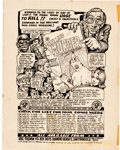 Original Comic Art:Covers, Robert Crumb Your Hytone Comix Inside Front Cover OriginalArt (Apex Novelties, 1971)....