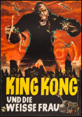 "Movie Posters:Horror, King Kong (Schneider Film, R-1960s). German A1 (23"" X 33"").Horror.. ..."