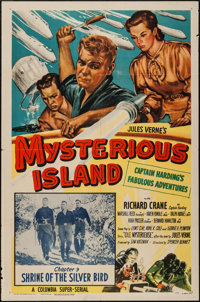 "Mysterious Island (Columbia, 1951). One Sheet (27"" X 41"") Chapter 9 -- ""Shrine of the Silver Bird.""..."