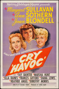 "Movie Posters:War, Cry Havoc (MGM, 1943). One Sheet (27"" X 41""). War.. ..."