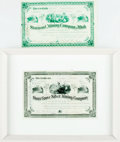 Books:World History, Pair of Antique Stock Certificates. Entitling one Benjamin Franklin to shares in two different mining companies, the Stormon... (Total: 2 Items)
