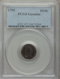 Early Half Dimes, 1795 H10C PCGS Genuine. The PCGS number ending in .97 suggestsenvironmental damage as the reason, or perhaps one of the re...