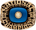 Football Collectibles:Others, 1976 University of Pittsburgh Panthers NCAA Football Championship Ring Presented to Bob Leahy....