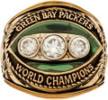 Football Collectibles:Others, 1968 Green Bay Packers Super Bowl II Championship Ring Presented to Lionel Aldridge. ...