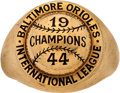 Baseball Collectibles:Others, 1944 Baltimore Orioles International League Championship Ring....