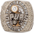 Basketball Collectibles:Others, 2004-05 San Antonio Spurs NBA Championship Ring Presented to LintonJohnson....