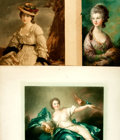 Books:Prints & Leaves, Trio of Mezzotint Portraits of Young Women. Various publishers,1913, 1926. Various sizes, largest measuring approximately 2...
