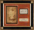 Autographs:Military Figures, Geronimo: A Classic Pencil Example of His Distinctive Autograph, Beautifully Custom Framed with a Rare Cabinet Photo Image....
