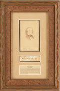Autographs:Celebrities, Kit Carson: A Fine, Scarce Cut Signature....