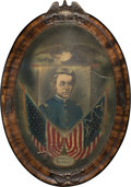 Militaria:Ephemera, Captain Frederick Benteen: A Fabulous Original Portrait and Lock of Hair from the Controversial Little Big Horn Figure....